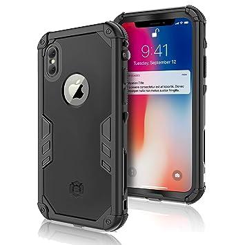 d7977068082 Funda Impermeable para iPhone XS/iPhone X, Carcasa Impermeable IP68  Certificado Fundas Sumergible iPhone XS/iPhone X con Protector de Pantalla  Incorporado ...