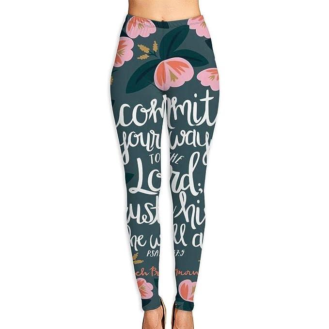 Womens Yoga Pants Christian Bible Verses Fitness Power Flex ...