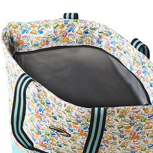 Olympia 2-Piece Rolling Shopper Tote and Cooler Bag, Beach by Olympia (Image #6)
