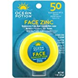 Ocean Potion Face Clear Zinc Oxide, Sunscreen SPF 50, 1 Ounce each, Pack of 3