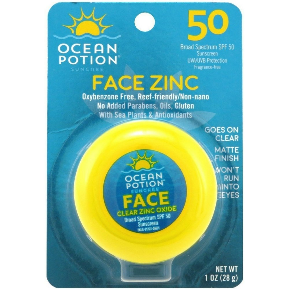 Ocean Potion Spf45 Face Zinc Oxide Clear 1 Oz. (3-pack) Sun & Skin Care Research