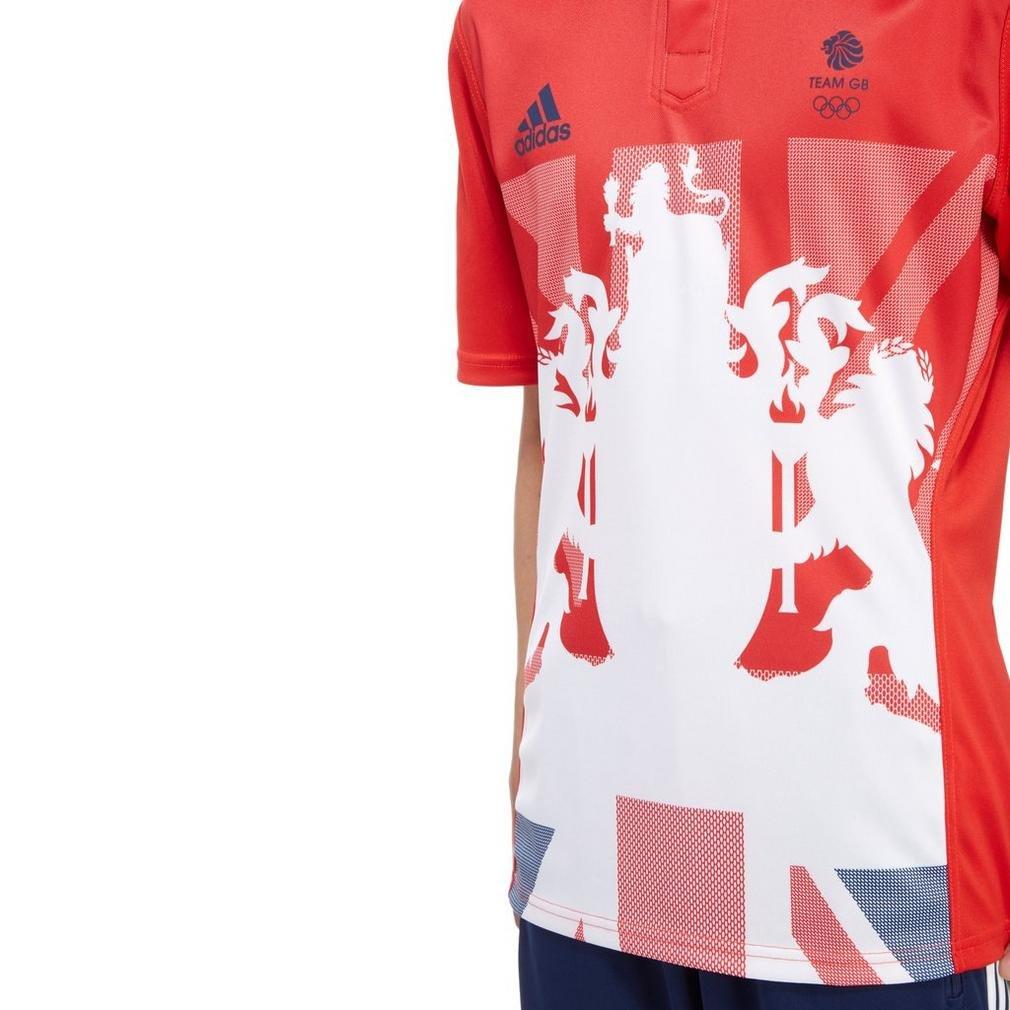 Camiseta del equipo de rugby Team GB, de la marca Adidas, color rojo, tamaño Medium: Amazon.es: Ropa y accesorios