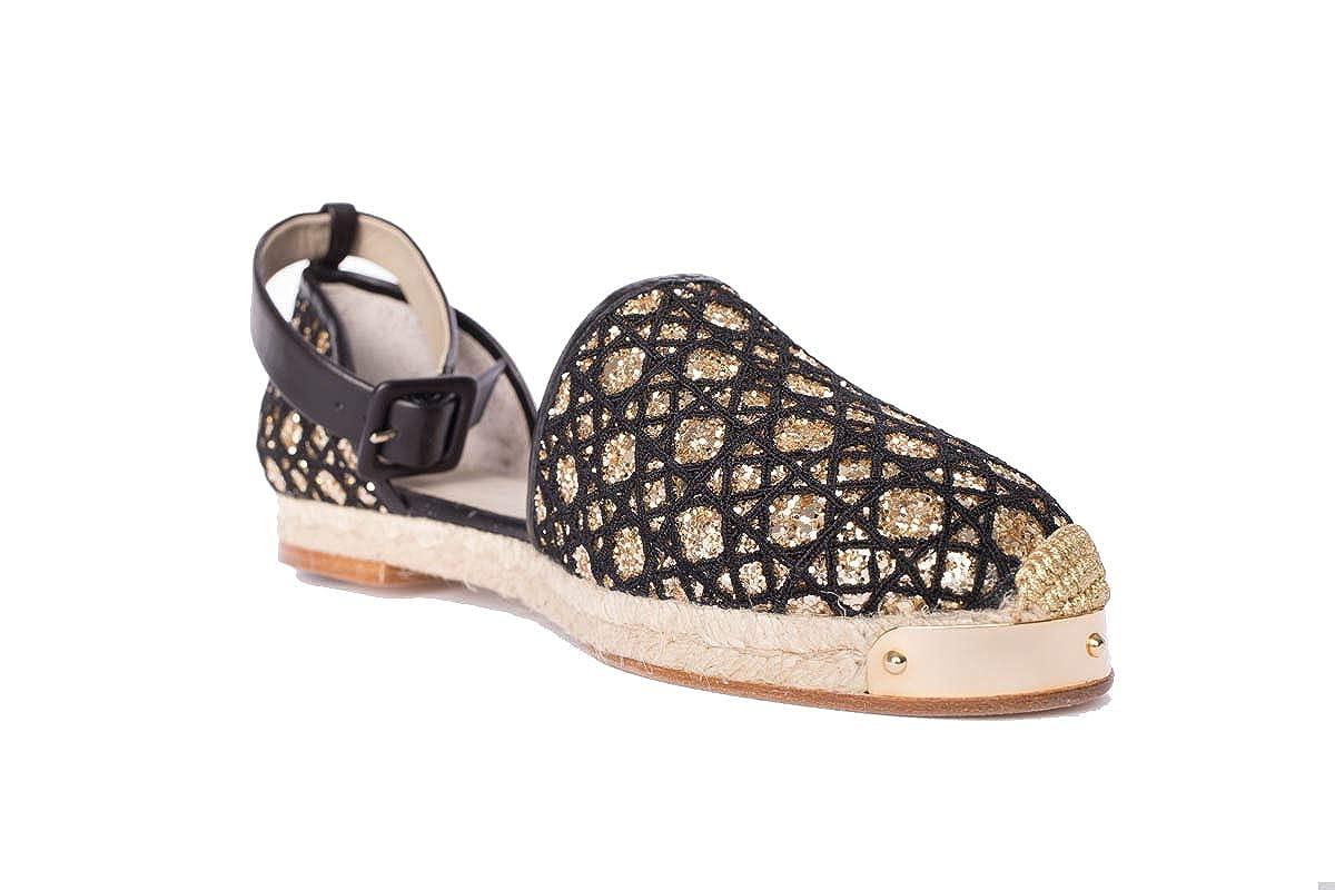 Giuseppe Giuseppe Giuseppe Zanotti Design Damen E66101002 Schwarz/Gold Leder Espadrilles e3bbb0