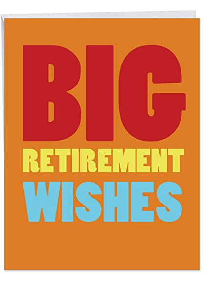 Extra Large Retirement Card With Envelope Letterhead 85 X 11 Inch