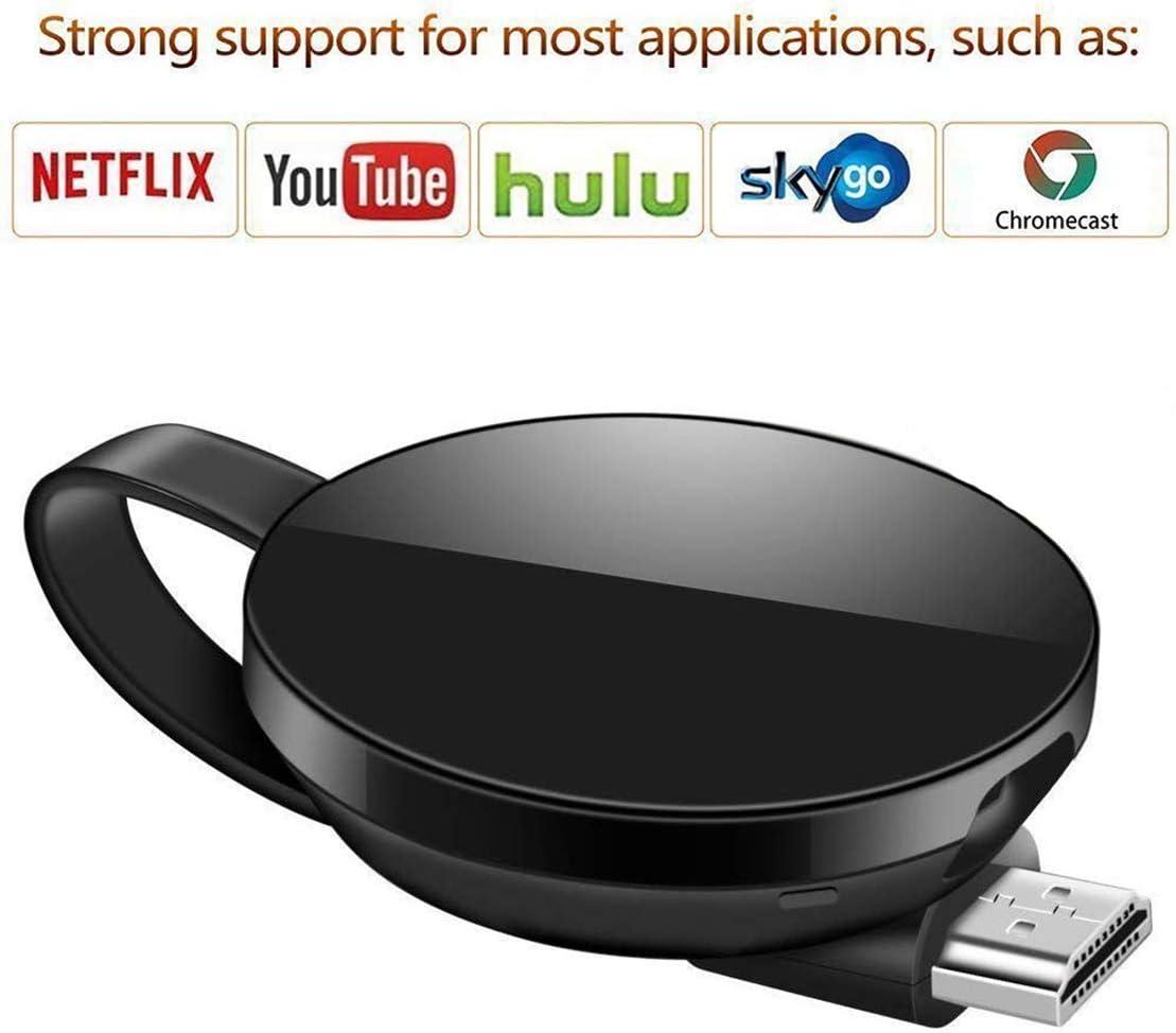 Wireless WiFi Display Dongle Adaptador de Pantalla Receptor 2.4GHz//5G 1080P HD Compatible Google Chromecast TV//Airplay//Miracast//MacBook//Android//iOS iPhone