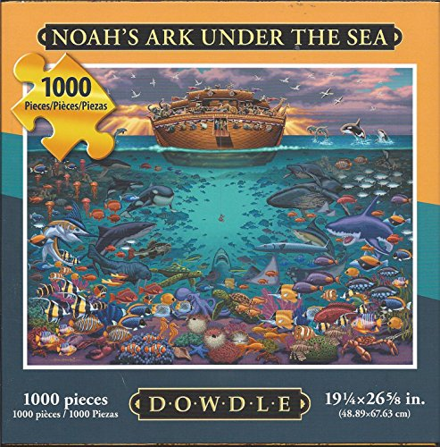 "Dowdle Folk Art Puzzle Noah's Ark Under Sea 1000 Pieces NEW 19 ¼"" x 26 5/8"""