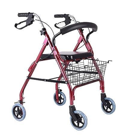 Bseack Andador con Ruedas Andador Plegable con Movilidad, Nivel 3 ...
