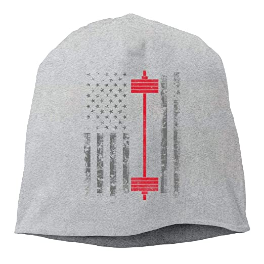 Oiir Ooiip Male Warm Beanie Hat Cool Winter Cap American Power Weight  Lifting b5bd58ad7d4