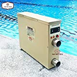NEWTRY Digital Display Electric Water Heater Thermostat Heater Pump Hot Tub for Swimming Pool & Bath SPA Mainly for Keeping the Temperature of 11tons Water(11KW 220V)