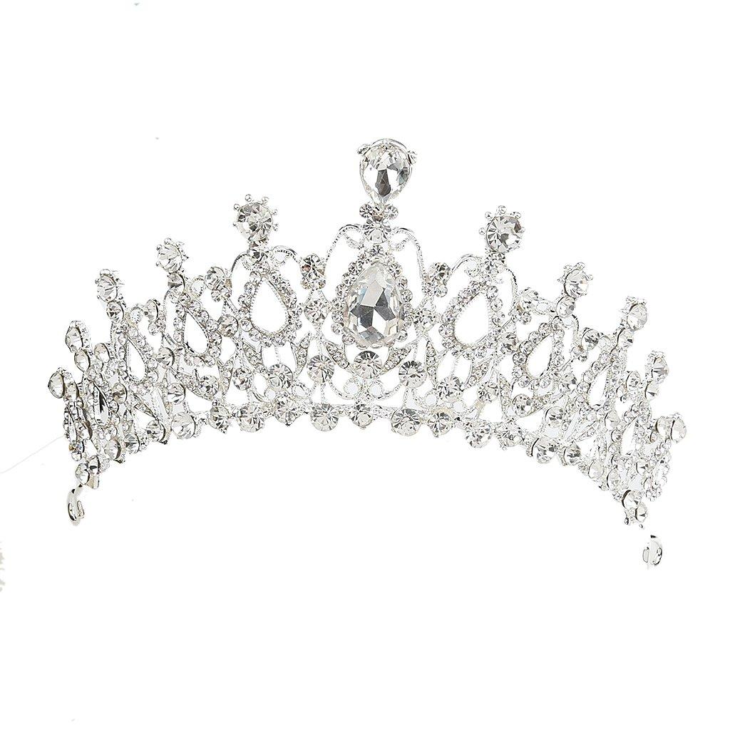 Prom Wedding Party Brides Maid Rhinestone Tiara Crown Headband Clasp Silver Generic STK0156003244
