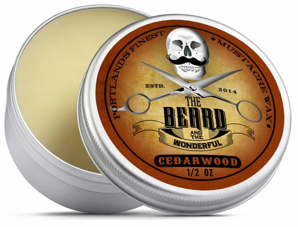 Cedarwood Strong Moustache Wax (15ml) Premium Solution for Mustache & Beard Styling Twists,Points, twizzles & Curls - The Beard and The Wonderful tbatw-mwax15ced