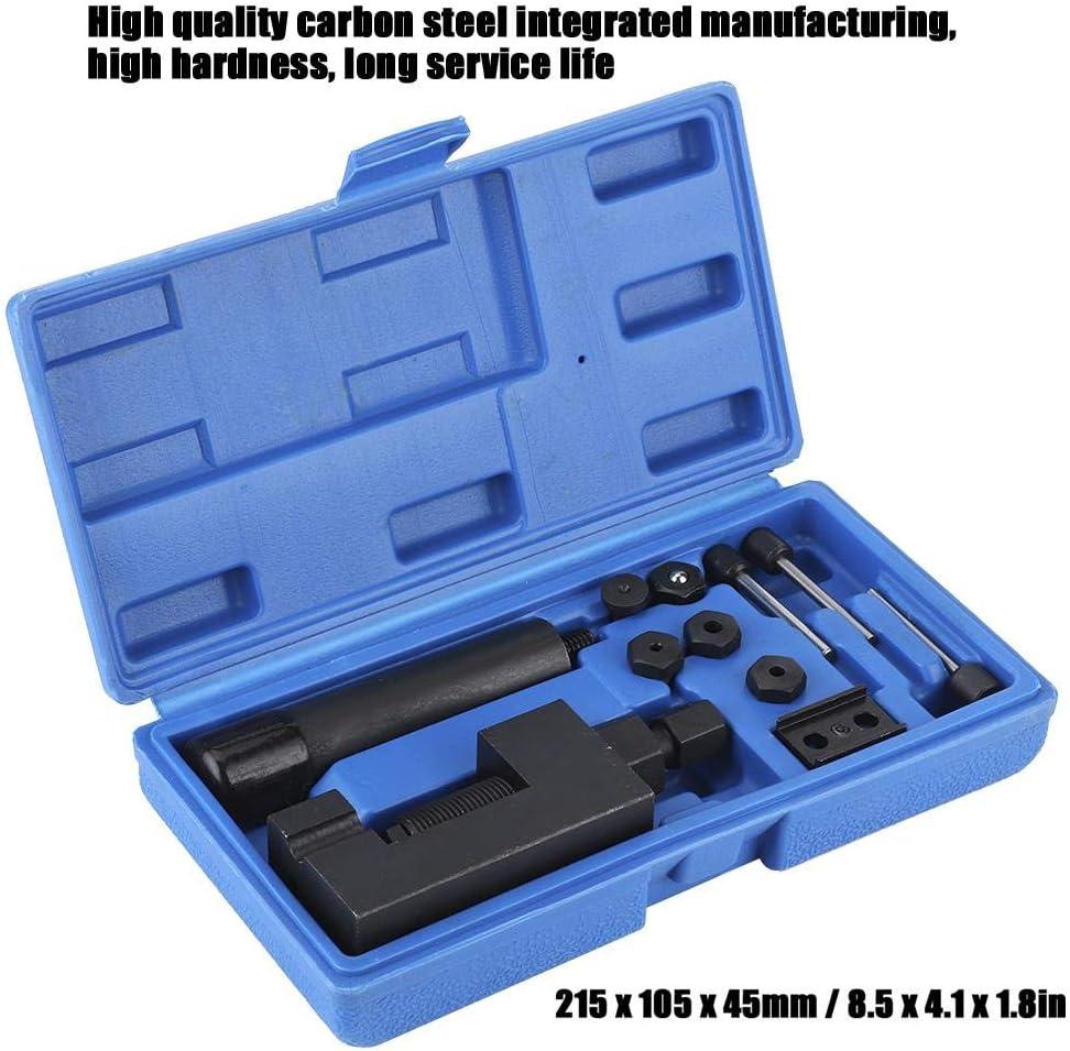 mat/ériel en acier au carbone outil de S/éparateur de disjoncteur de cha/îne kit doutils de riveteuse de s/éparateur de lien de s/éparateur disjoncteur de cha/îne dentra/înement de came de moto de v/élo