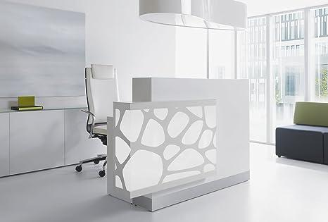 Reception Ufficio Bianco : Ricezione bancone organic bianco ricezione bancone reception