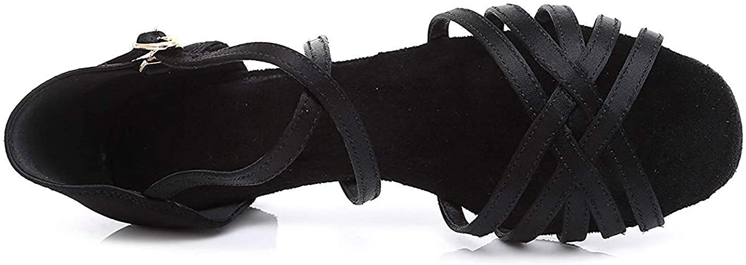 Girls Knitted Straps Latin Dance Shoes Soft-Sole Ballroom Dancing Sandals
