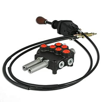 Válvula de control hidráulico dos Carrete 10 GPM 3625 Psi Max Centro Abierto Con Joystick