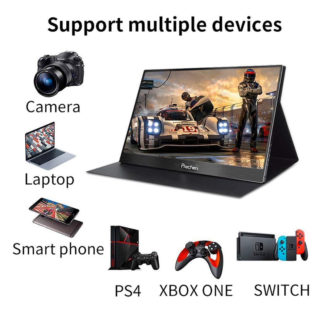 Compatible for Security Built-in Speakers Prechen,10.1 inch Computer hdmi Monitor 1366x768 Resolution,Portable LCD CCTV Monitor with HDMI VGA AV BNC Port