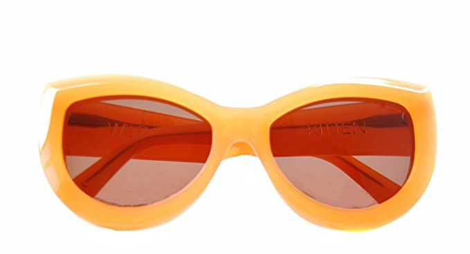 114e891a81 Image Unavailable. Image not available for. Colour  Wildfox Women s KITTEN  Cat Eye Frame Sunglasses Tangerine