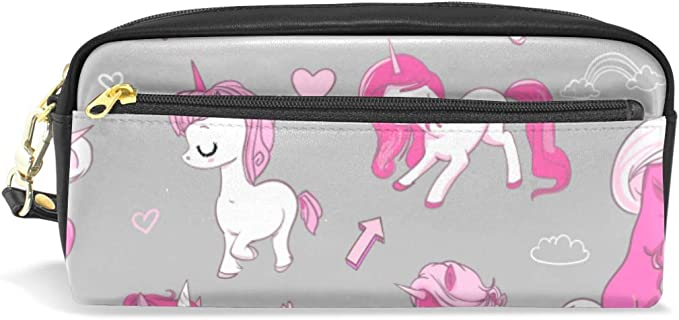Estuche de lápices Bolsa Monedero Unicornios rosados Nubes de corazón para estudiante Niño Niña Bolsa de maquillaje cosmético Bolígrafo casero Bolso estacionario Cremallera: Amazon.es: Hogar