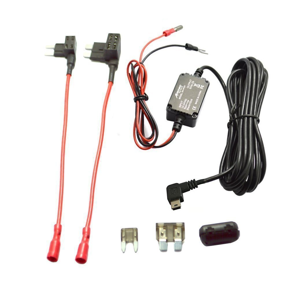 Meknic SV-PC01 Dash Cam Hardwire Fuse Kit with Hard wire Car Charger Cable  For