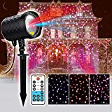 Christmas Decorative Laser Lights,Red and Blue Motion Laser Light Starry Show with RF