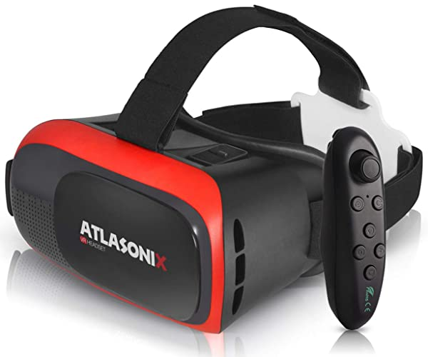 VR Headset with Controller for Android Phones - Virtual Reality Goggles   Comfortable & Adjustable VR Glasses w/Remote Control   Play Your Best VR Games & 3D Videos   Unique Gift for Kids and Adults (Color: W/ Controller for Android)