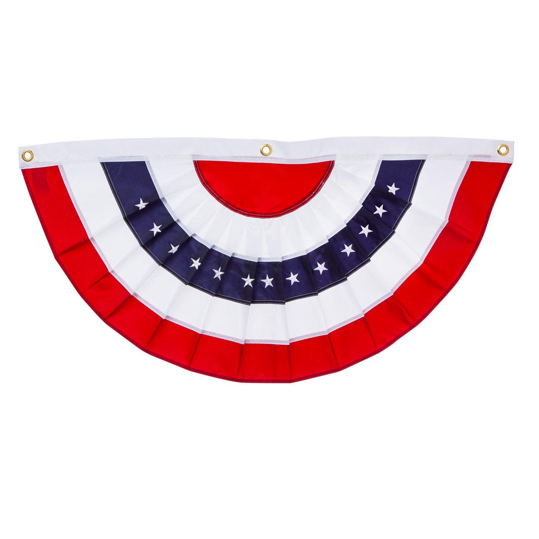 amazon com patriotic bunting 2 sided pleated flag 58