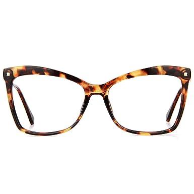 ab6d6a239cc2 Zeelool Large Butterfly Eyeglasses Frame for Women Isaebella FP0044-01  Tortoise