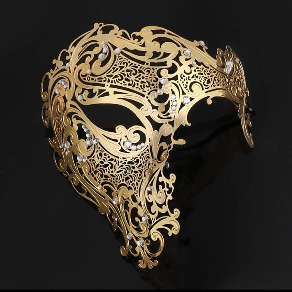 FRCOLOR Strass Mascarade Masque /Él/égant Mardi Gras Masque Diamant Alliage Fantaisie Visage Couverture pour Halloween D/îner V/énitien Bal de Bal F/ête Faveurs
