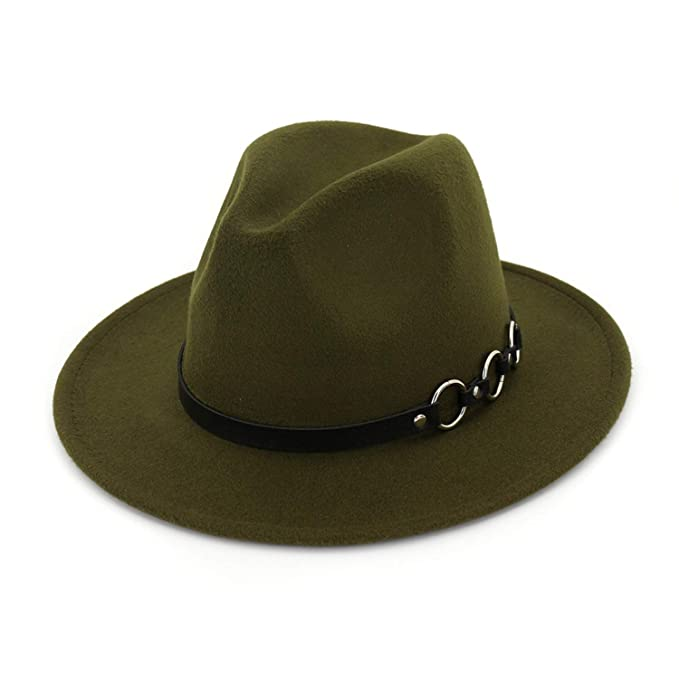 Image Unavailable. Image not available for. Color  SINXE Wool Wide Brim Floppy  Felt Trilby Fedora Hat for Elegant Women ... 18d2671c37da