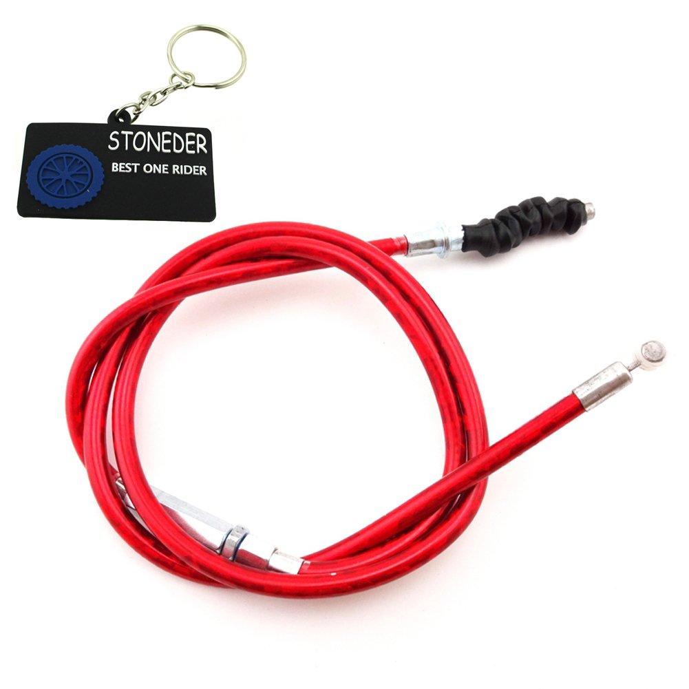 Stoneder Câ ble d' embrayage rouge de 970 mm pour moto hors route Pit Bike 50cc 70cc 90cc 125cc 150cc 160cc SSR Thumpstar TTR KLX110 Baja GPX XR CRF