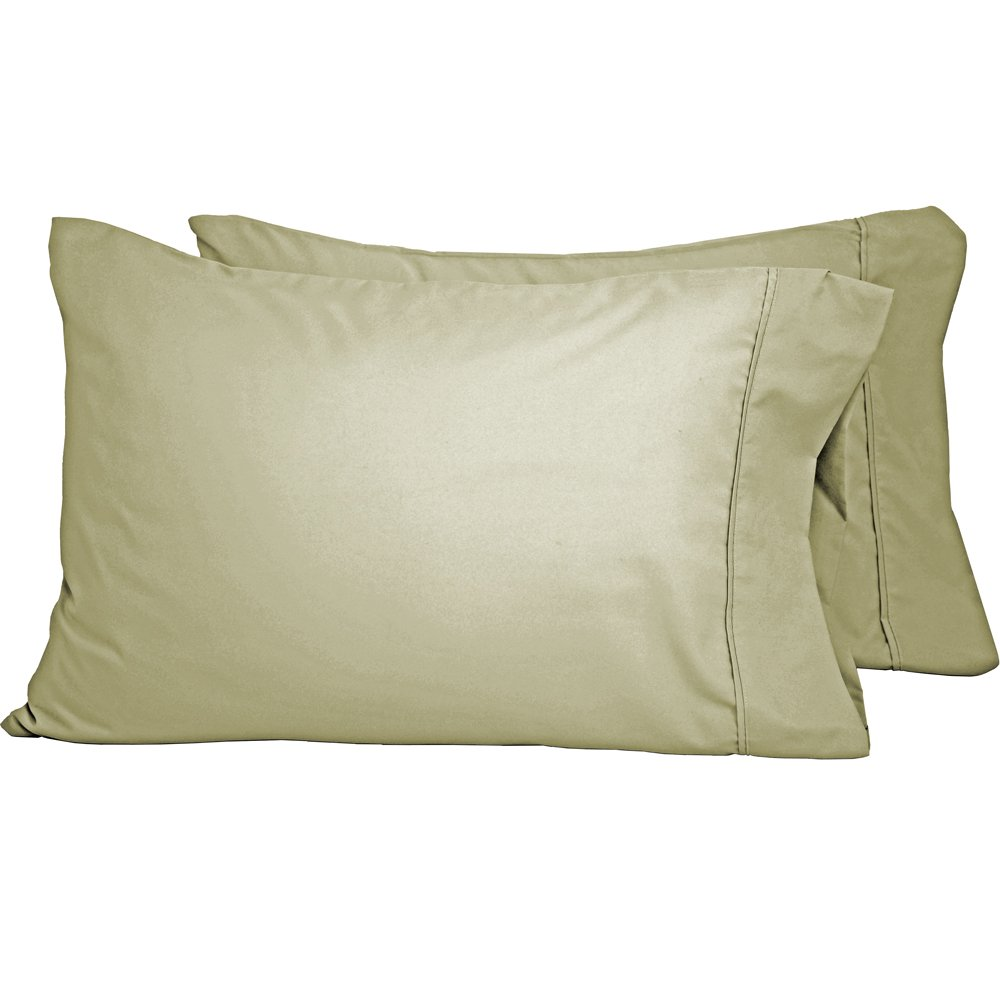 Pillowcase Set - Double Brushed - Hypoallergenic - Wrinkle Resistant (King Pillowcase Set of 2, Sage