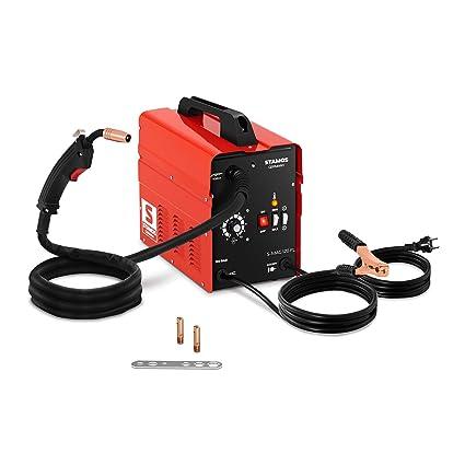Stamos Máquina De Soldar MIG/MAG De Hilo Tubular Soldador Flux S-MAG 120