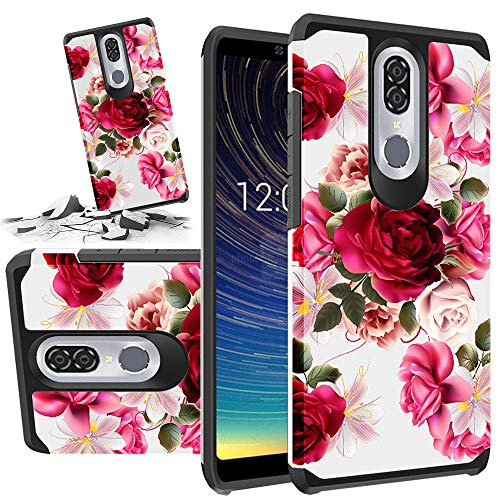 Red Floral Phone Case Compatible for [ Coolpad Legacy 6.36