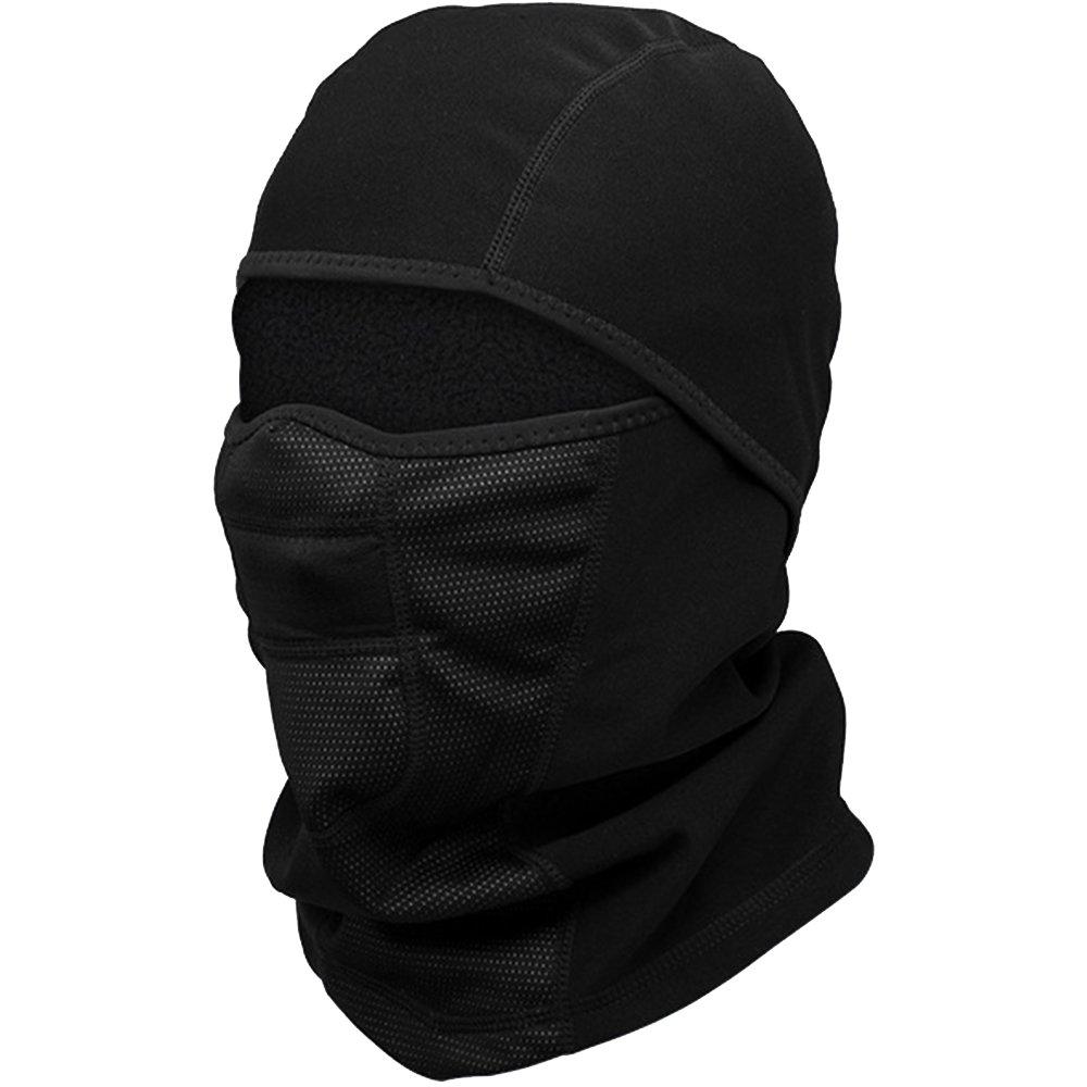 Balaclava Face Mask for Cold Weather - Windproof Ski Mask - Winter Motorcycle Helmet Liner Snowboard Neck Warmer Tactical Balaclava Hood for Women Men (Black) ILM ILM-LF-Black