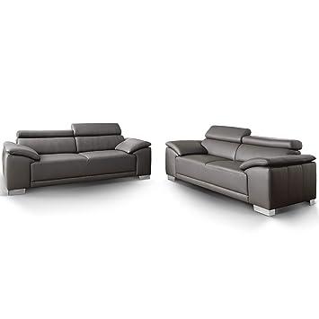 Designer Voll Leder Couch Garnitur 3 2 Sitzer Amalfi Candy Sofa 3c