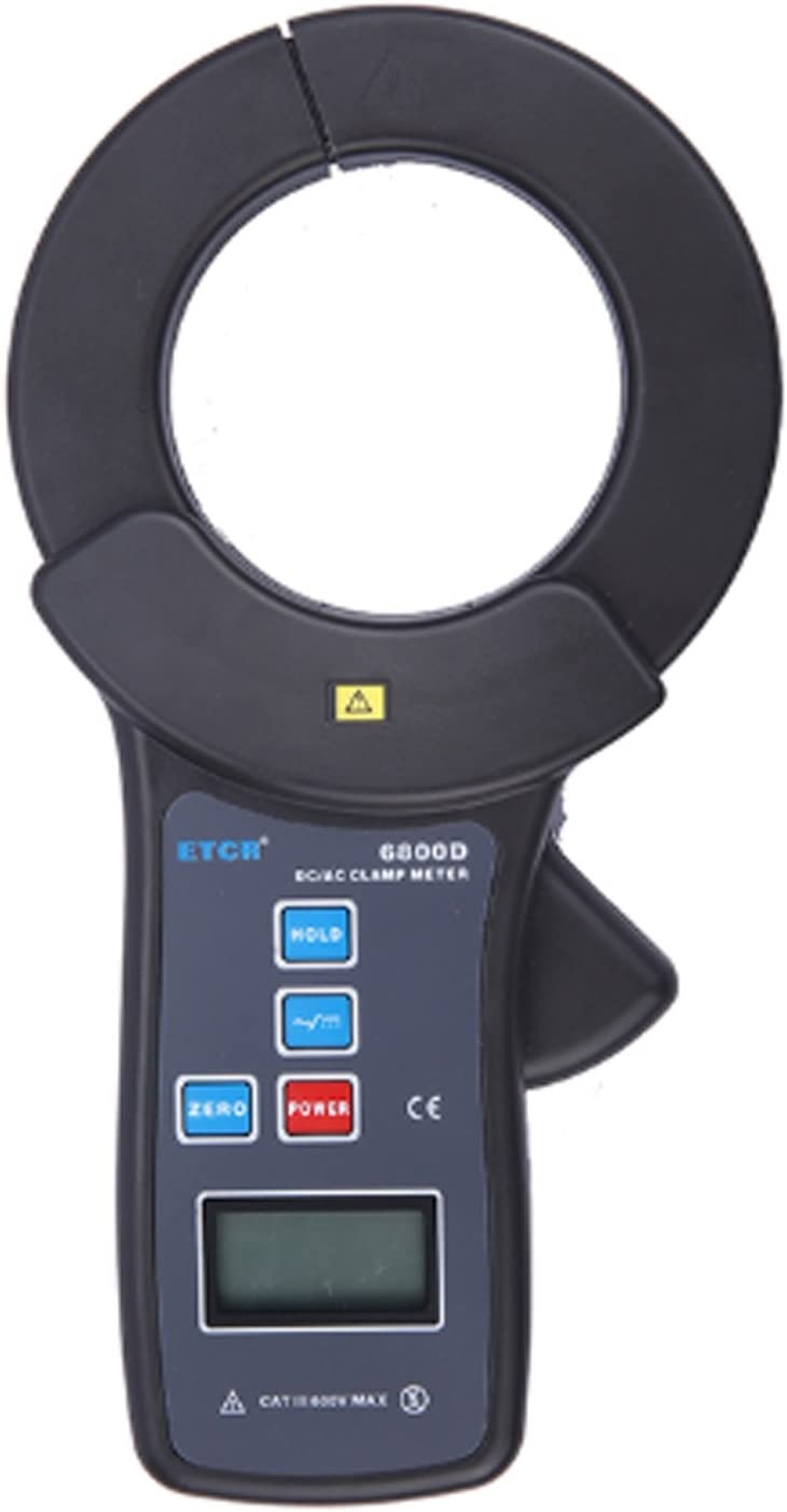 Jaw Size Diameter 68mm With USB Interface Data Upload Function Data Storage 99 Groups ETCR6800D Vol AC 0.0A to 1500A Digital Multimeter Clamp Ammeter DC//AC Current Measurement Range DC 0.0A to 2000A