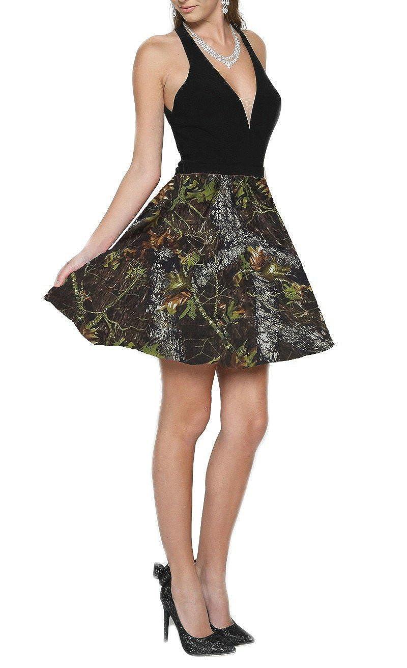 6b24acffaada4 iLovewedding Halter Backless Homecoming Dresses Short Camo Prom Dress for  Girls at Amazon Women's Clothing store: