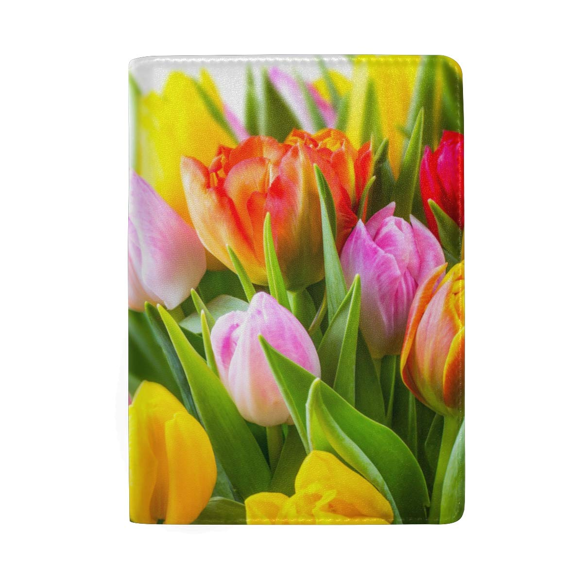 Eranium Flowers Leather Passport Holder Cover Case Protector for Men Women Travel with Slots