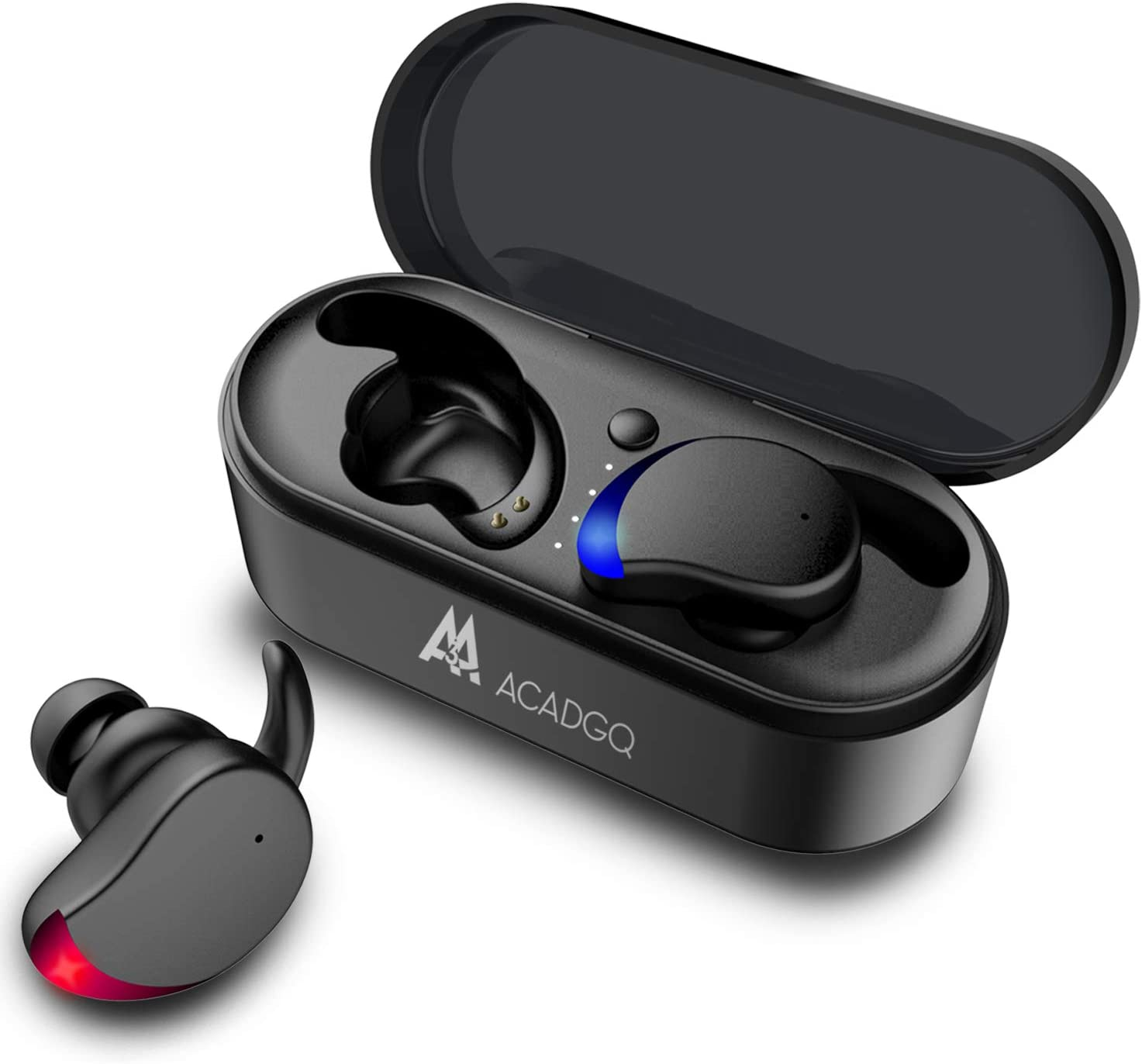 Bluetooth Earbuds Wireless, ACADGQ Bluetooth 5.0 Earbuds with Mic Noise Cancelling Bluetooth Running Earphones for iPhone