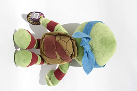 Leonardo 30cm Super Soft Peluche Pañuelo Azul Mascara Las Tortugas Ninja Mutantes Adolescentes (TMNT) Turtles Pelicula TV