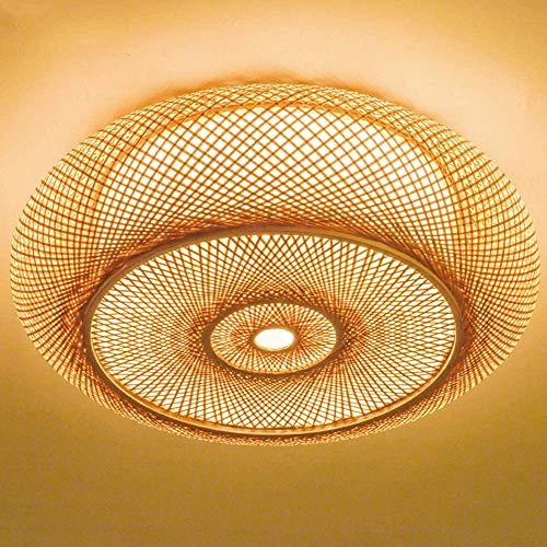 Ronde Ring Plafondlamp LED Plafondlamp Vintage Plafondlamp Ronde Kroonluchter Retro Plafondverlichting Natuurlijke…