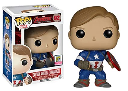 Amazon Com Unmasked Captain America Funko Pop 2015 Convention