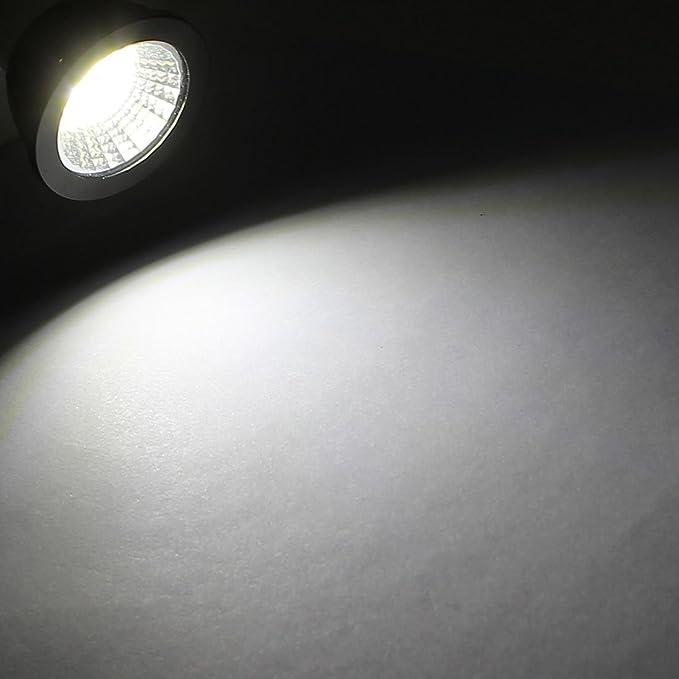 COB eDealMax AC85-265V GU10 3W Power Base Reflector LED Lámpara Bombilla blanca pura - - Amazon.com
