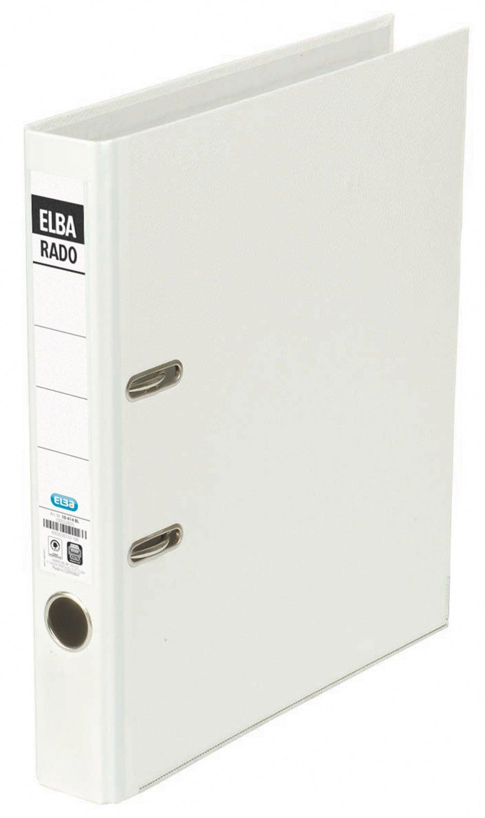 Elba 100022611 Folder A4 Spine Width 5 cm Interchangeable Spine Label/White