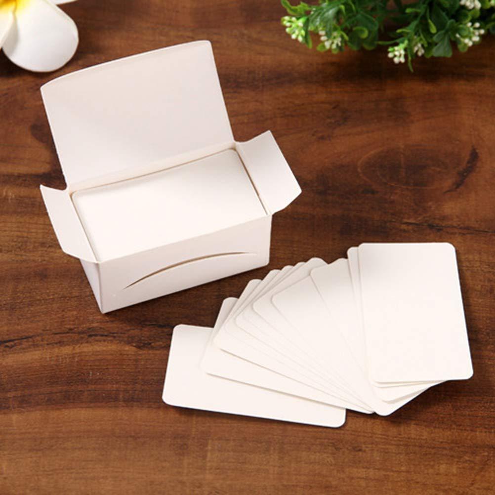 100 bianco + 100 carta kraft NUOBESTY 200 pezzi piccoli biglietti di auguri vuoti Retro taccuini fai da te forza biglietto d auguri Graffiti cartolina messaggio biglietto