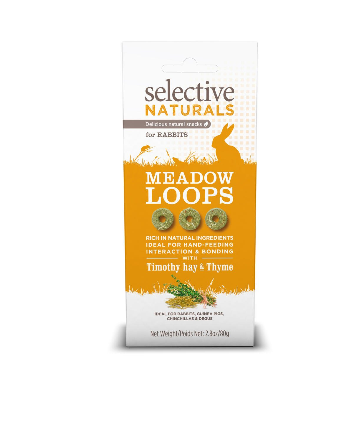 Supreme Petfoods Selective Naturals Meadow Loops for Rabbits with Timothy Hay and Thyme