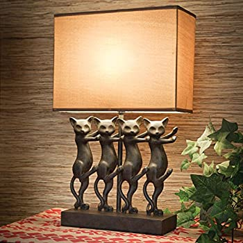 Bits and Pieces - Dancing Cat Lamp - Animal Shaped Table Lamp ...