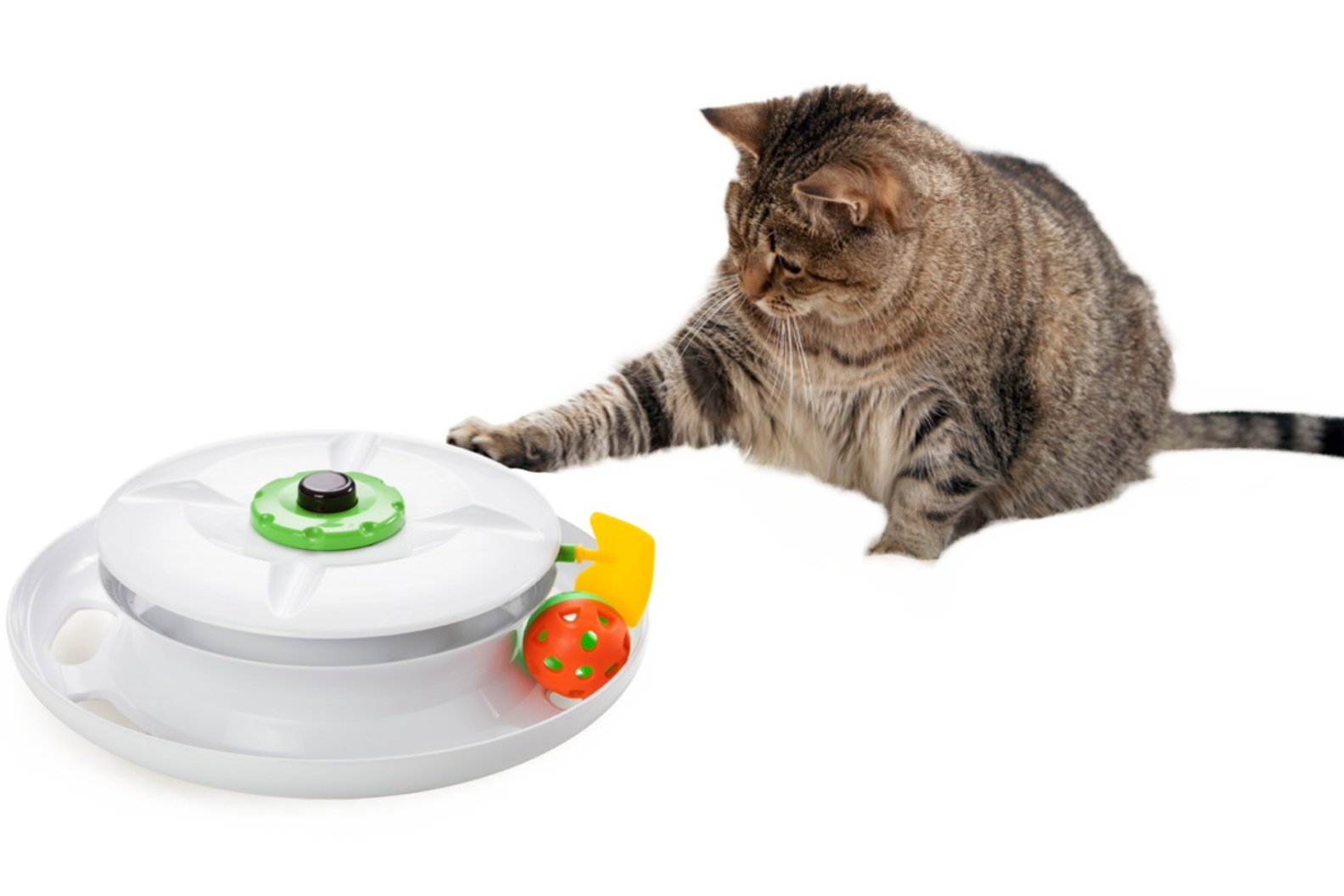WANTi Cat Toy - Interactive and Automated fun with Ball, Wand, Feather and Remote control - Made in Taiwan