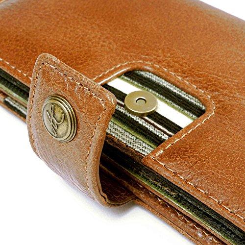 Alston Craig Vintage echt Leder Brieftaschen Case Hülle Tasche für Apple iPhone 6/7 Plus / Samsung Galaxy Note 4 - braun