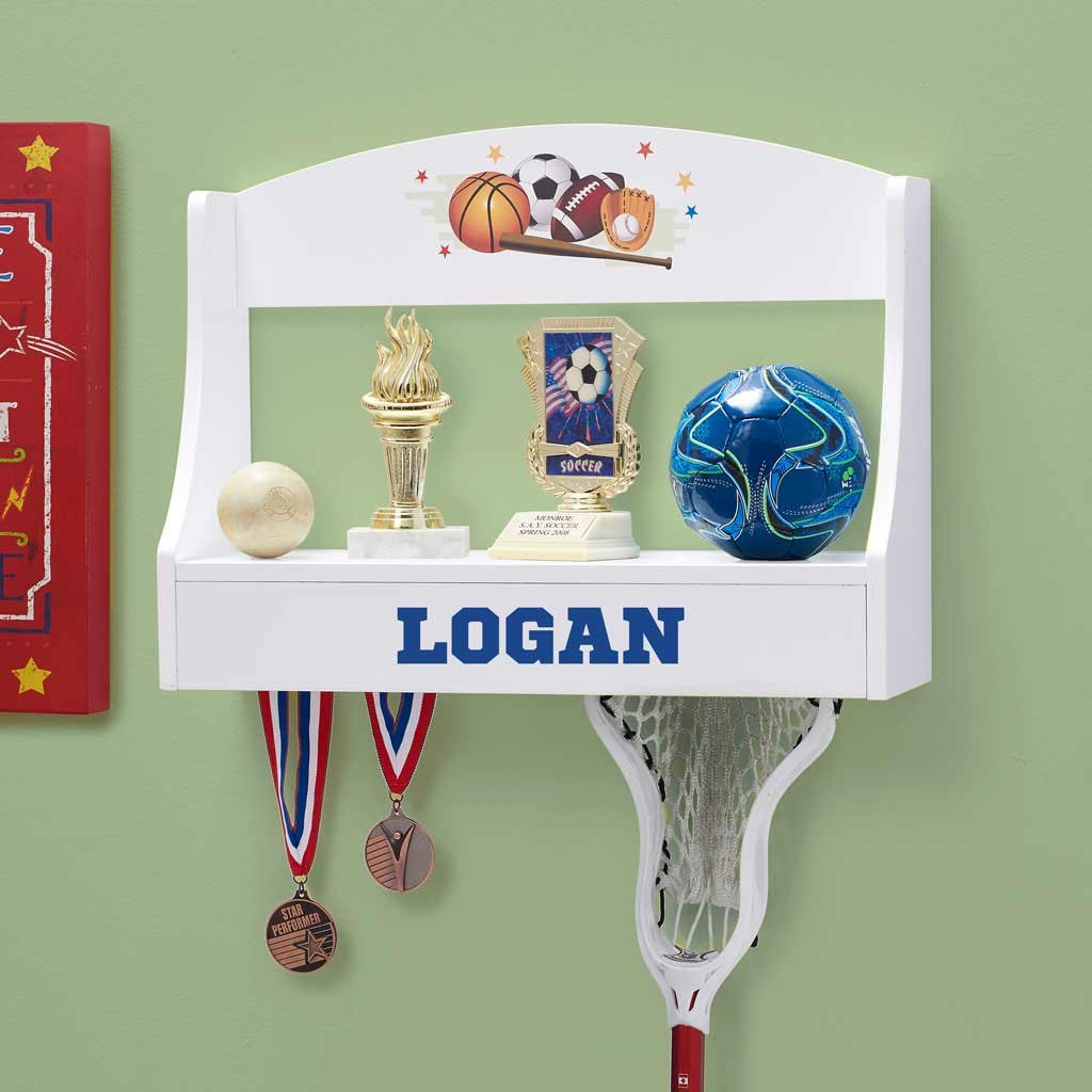 Personalized Trophy Shelf and Medal Holder (Multi Sports)